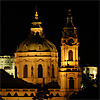 St. Nicholas Church in Prague Lesser Town by night