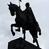 the most famous statue of st. wenceslas in prague
