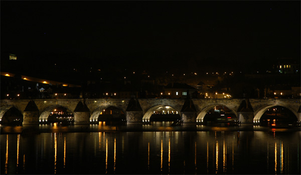 Charles Bridge in the night